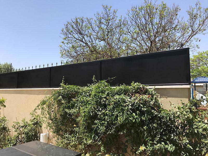 גדר מעוצב צבע שחור