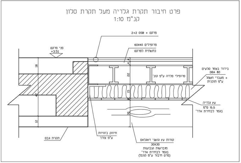 בניית גלריה מברזל valex