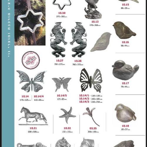 ציפורים ופרפרים מברזל