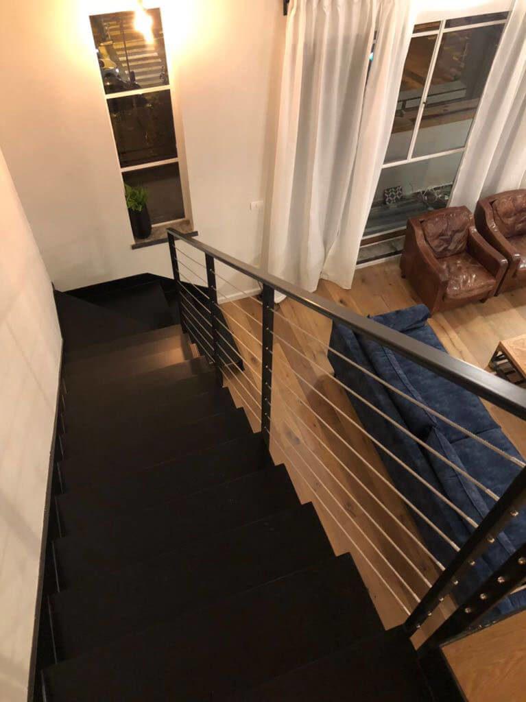חלונות בלגיים+מדרגות