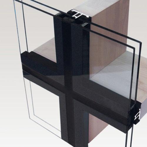 חלונות אלומיניום בשילוב עץ ואלה ס