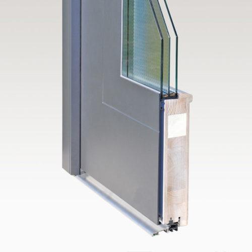 דלתות אלומיניום בשילוב עץ