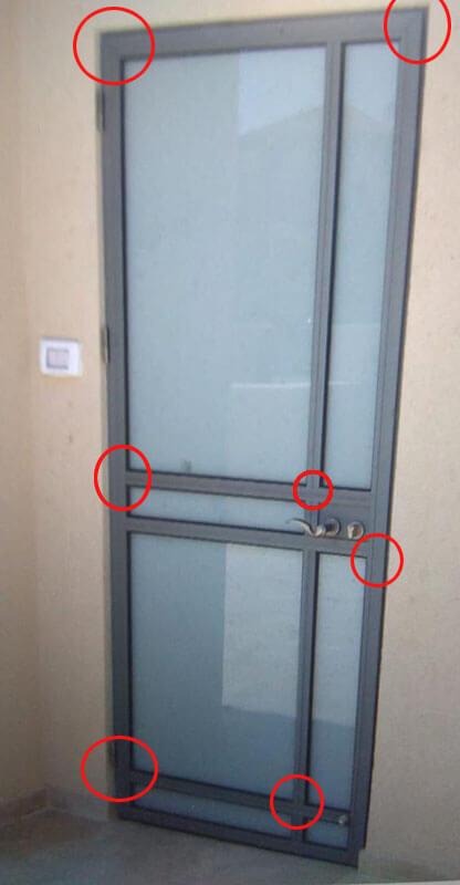 דלת בלגית אלומיניום ללא חיבור בריתוך