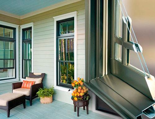 חלונות עץ בשילוב אלומיניום שונה