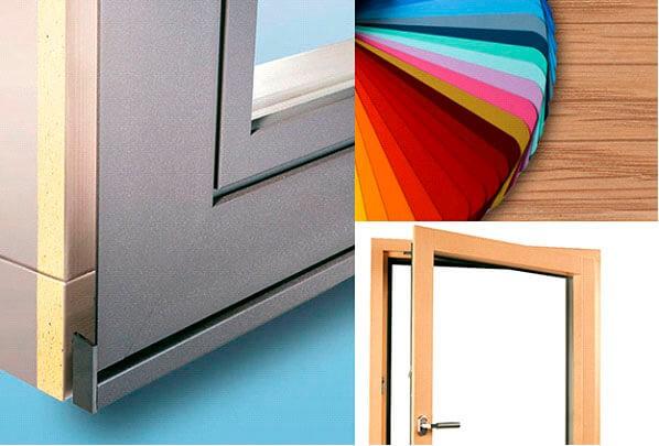 מגוון צבעים שלחלונות עץ אלומיניום