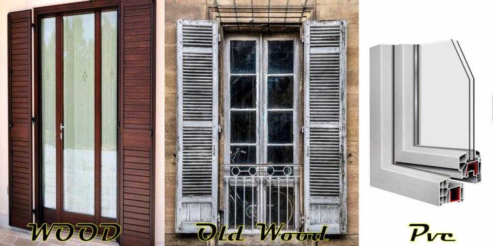 החלונות עץ וחלונות PVC וחלון עץ ישן